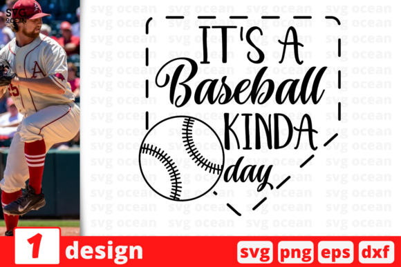 1 It S Baseball Kinda Day Svg For Cricut Graphic By Svgocean