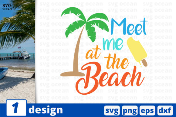 1 Meet Me At The Beach Summer Svg Cricut Graphic By Svgocean