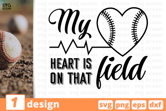 Download Free 1 My Heart Is On That Field Graphic By Svgocean Creative Fabrica for Cricut Explore, Silhouette and other cutting machines.