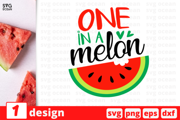 Download Free 1 One In A Melon Summer Svg For Cricut Graphic By Svgocean for Cricut Explore, Silhouette and other cutting machines.