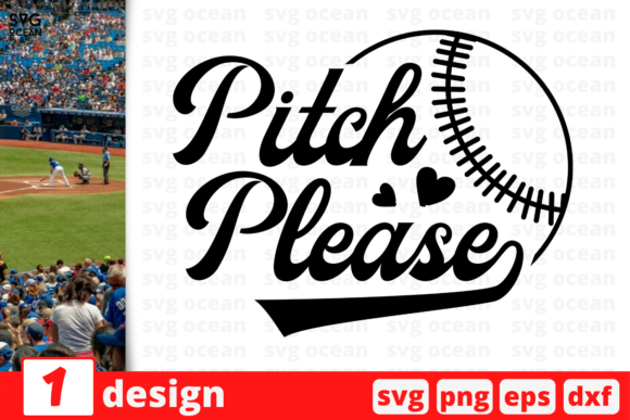 Download Free 1 Pitch Please Baseball For Cricut Graphic By Svgocean Creative Fabrica for Cricut Explore, Silhouette and other cutting machines.
