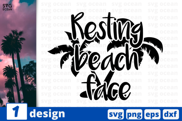 Download Free 1 Resting Beach Face Summer Svg Cricut Graphic By Svgocean SVG Cut Files