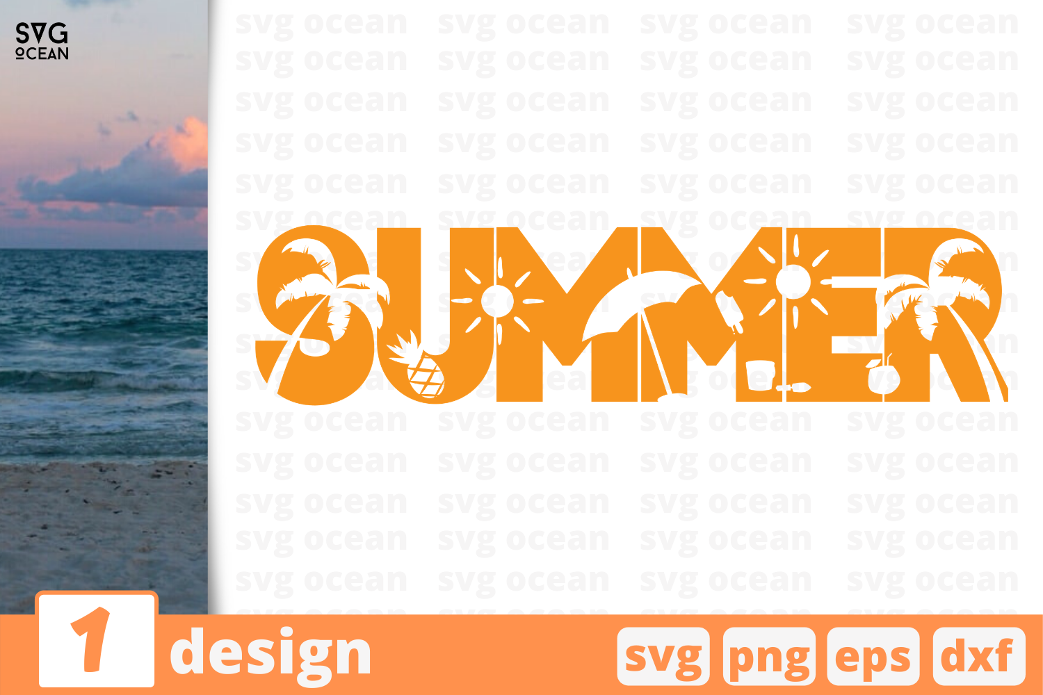 Download Free 1 Summer Bundle Graphic By Svgocean Creative Fabrica for Cricut Explore, Silhouette and other cutting machines.