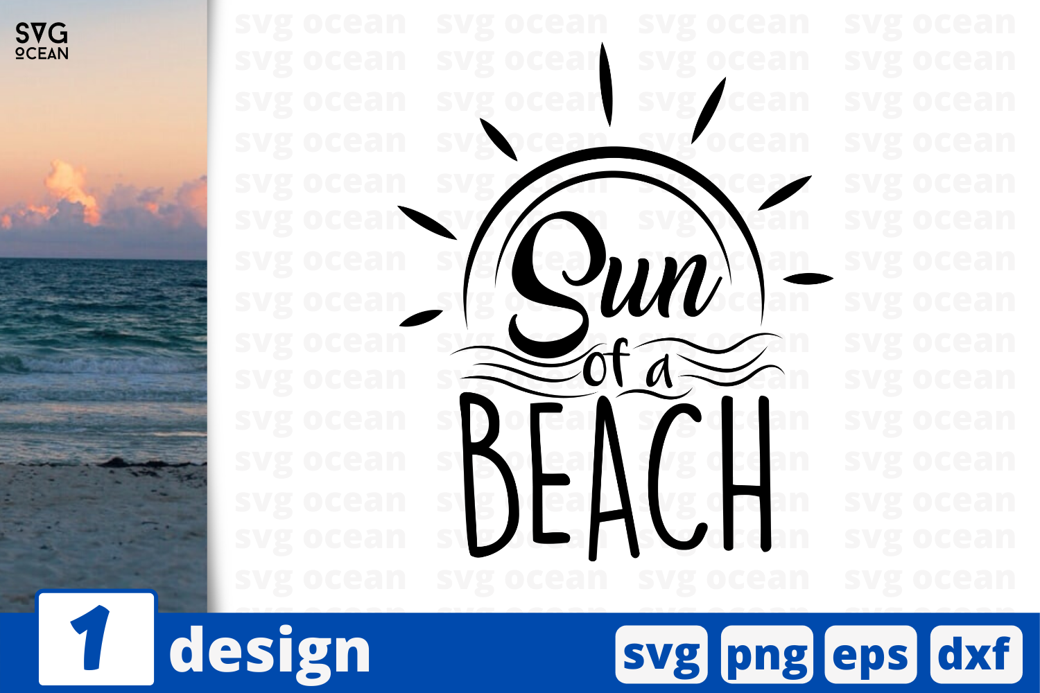 Download Free 1 Sun Of A Beach Summer Svg For Cricut Graphic By Svgocean for Cricut Explore, Silhouette and other cutting machines.