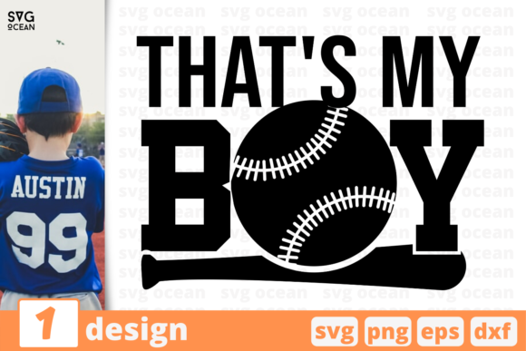 Download Free That S My Boy Graphic By Svgocean Creative Fabrica for Cricut Explore, Silhouette and other cutting machines.