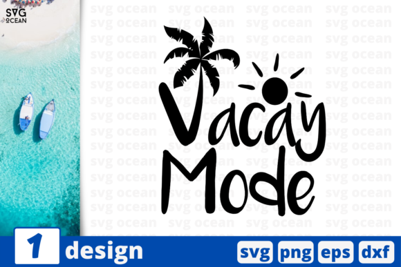Print on Demand: 1 VACAY MADE Bundle, Summer Cricut Graphic Print Templates By SvgOcean