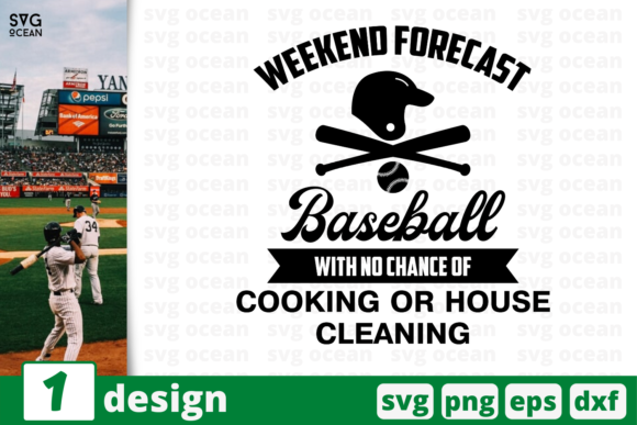 Download Free 1 Weekend Forecast Baseball Cricut Graphic By Svgocean for Cricut Explore, Silhouette and other cutting machines.