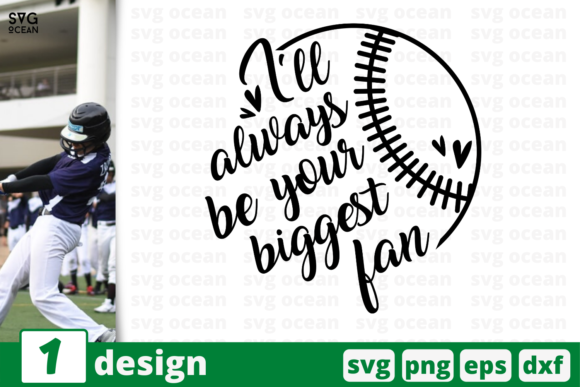 Download Free 1 Your Biggest Fan Baseball Cricut Graphic By Svgocean for Cricut Explore, Silhouette and other cutting machines.