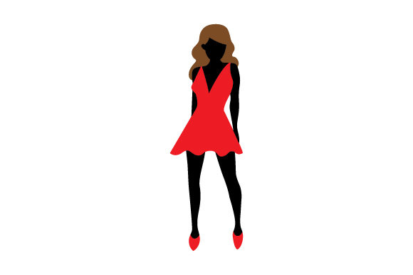 Download Free Fashion Silhouette Svg Cut File By Creative Fabrica Crafts for Cricut Explore, Silhouette and other cutting machines.