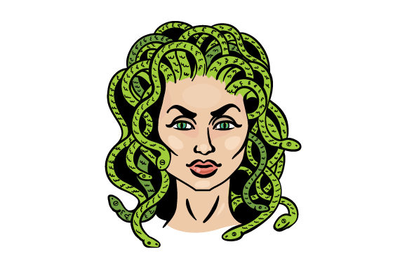 Medusa Designs & Drawings Craft Cut File By Creative Fabrica Crafts - Image 1