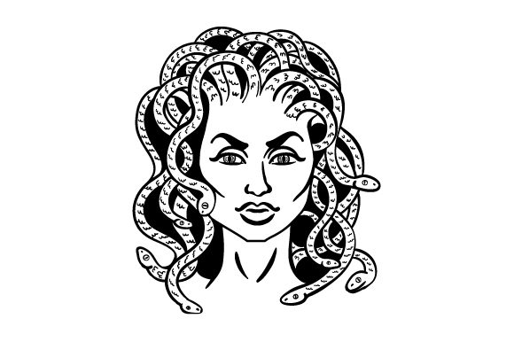 Medusa Designs & Drawings Craft Cut File By Creative Fabrica Crafts - Image 2