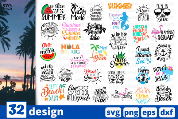 32 Summer Quotes Svg For Cricut Graphic By Svgocean Creative