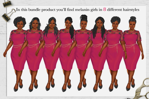 Print on Demand: 380 Plus Size Curvy Girls Cliparts Graphic Illustrations By TheGGShop - Image 2