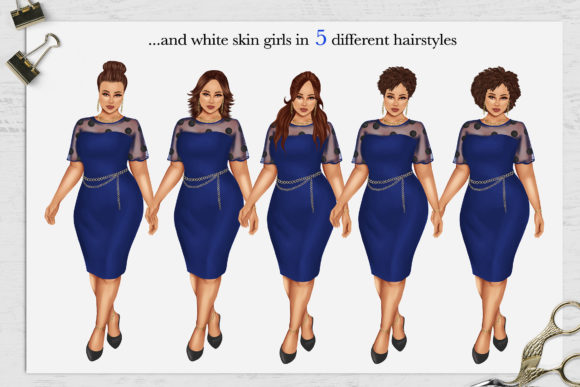 Print on Demand: 380 Plus Size Curvy Girls Cliparts Graphic Illustrations By TheGGShop - Image 3