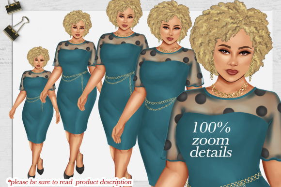 Print on Demand: 380 Plus Size Curvy Girls Cliparts Graphic Illustrations By TheGGShop - Image 7