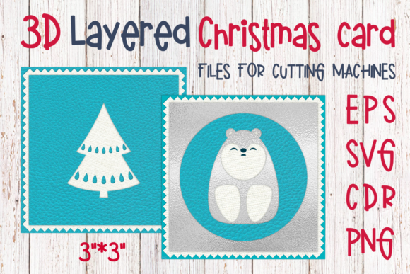 Download Free 3d Layered Christmas Card With Beak Graphic By Olga Belova for Cricut Explore, Silhouette and other cutting machines.