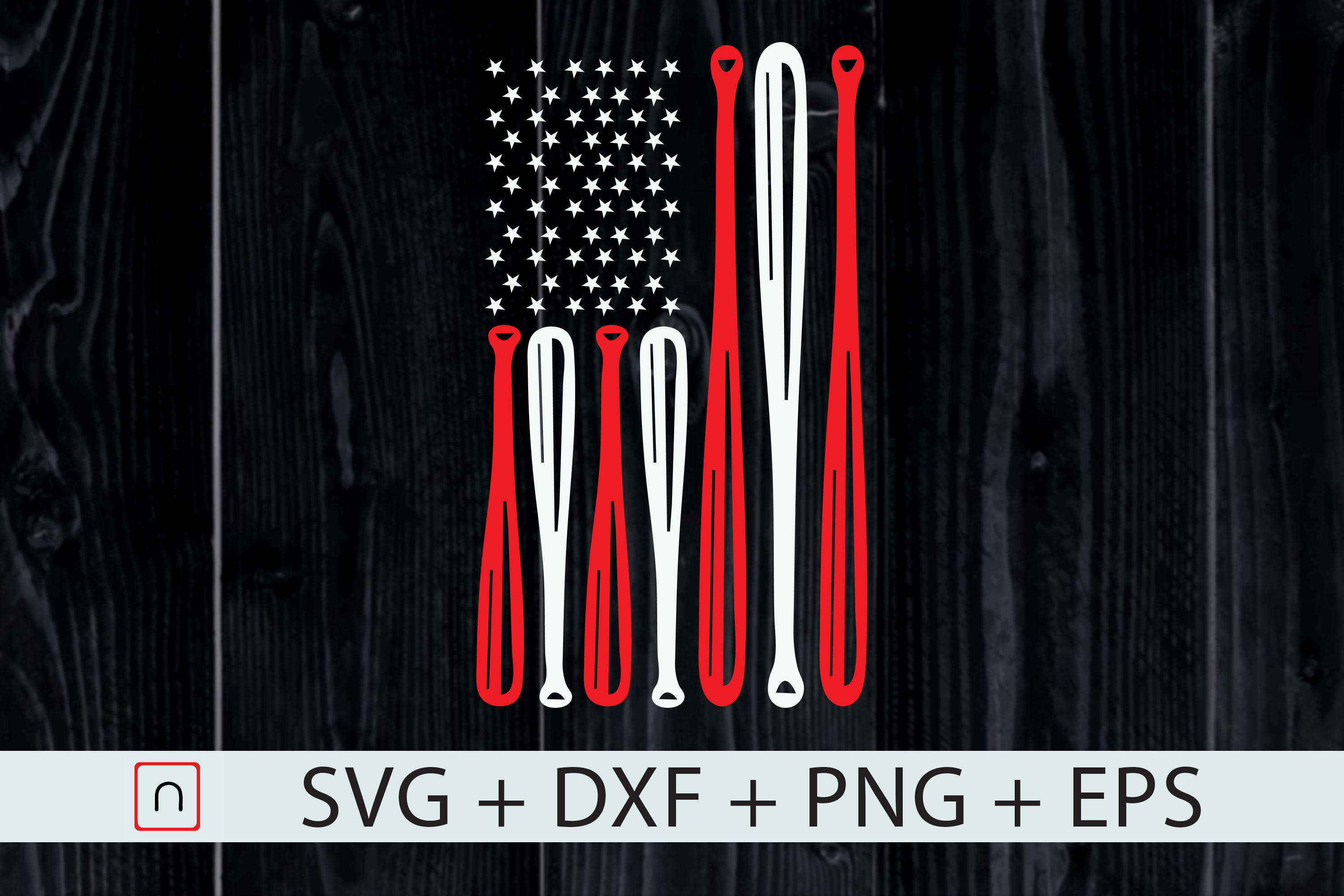 Download Free 4th July Baseball Distressed Usa Flag Graphic By Novalia for Cricut Explore, Silhouette and other cutting machines.