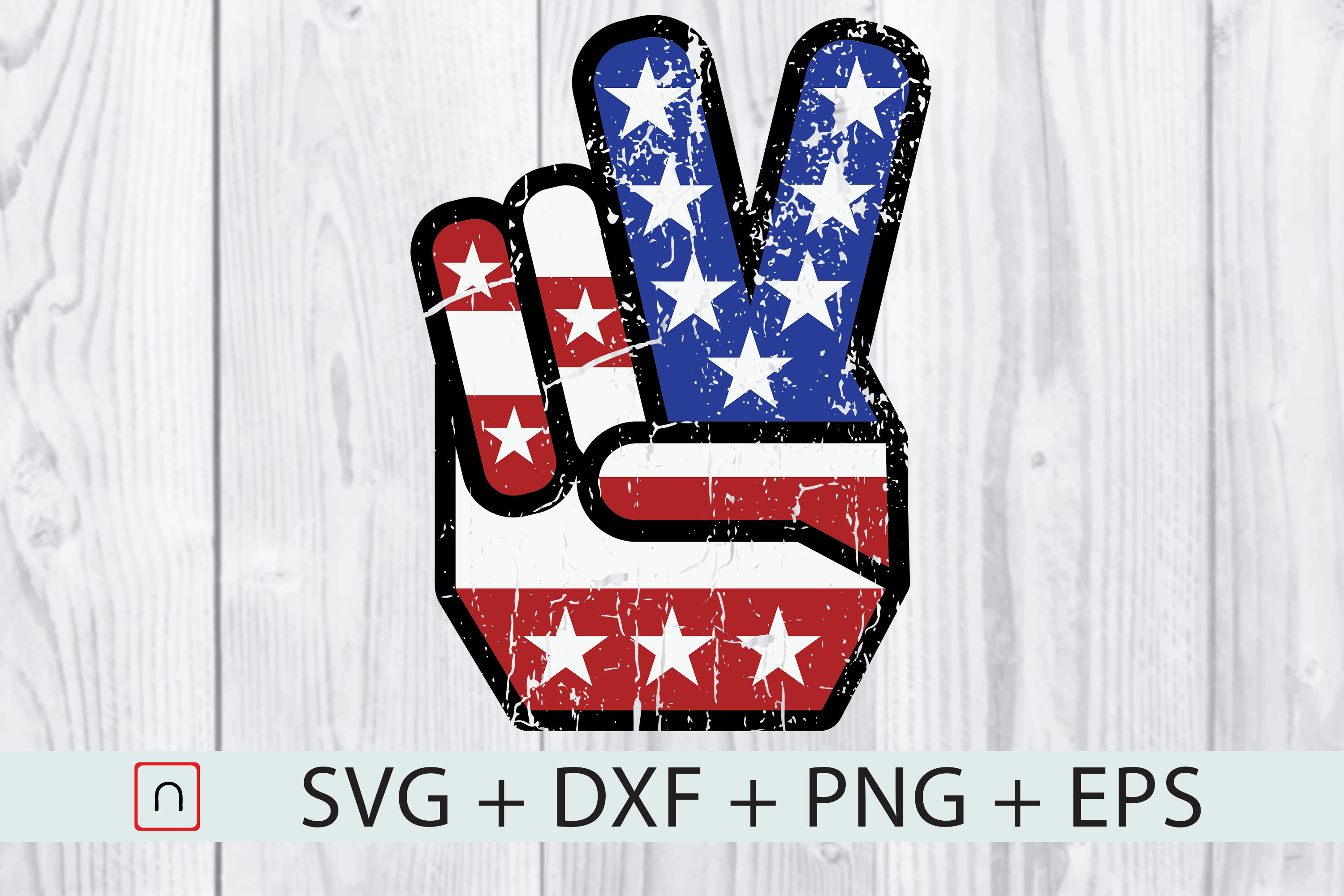 Download Free 4th Of July American Flag Peace Sign Graphic By Novalia for Cricut Explore, Silhouette and other cutting machines.