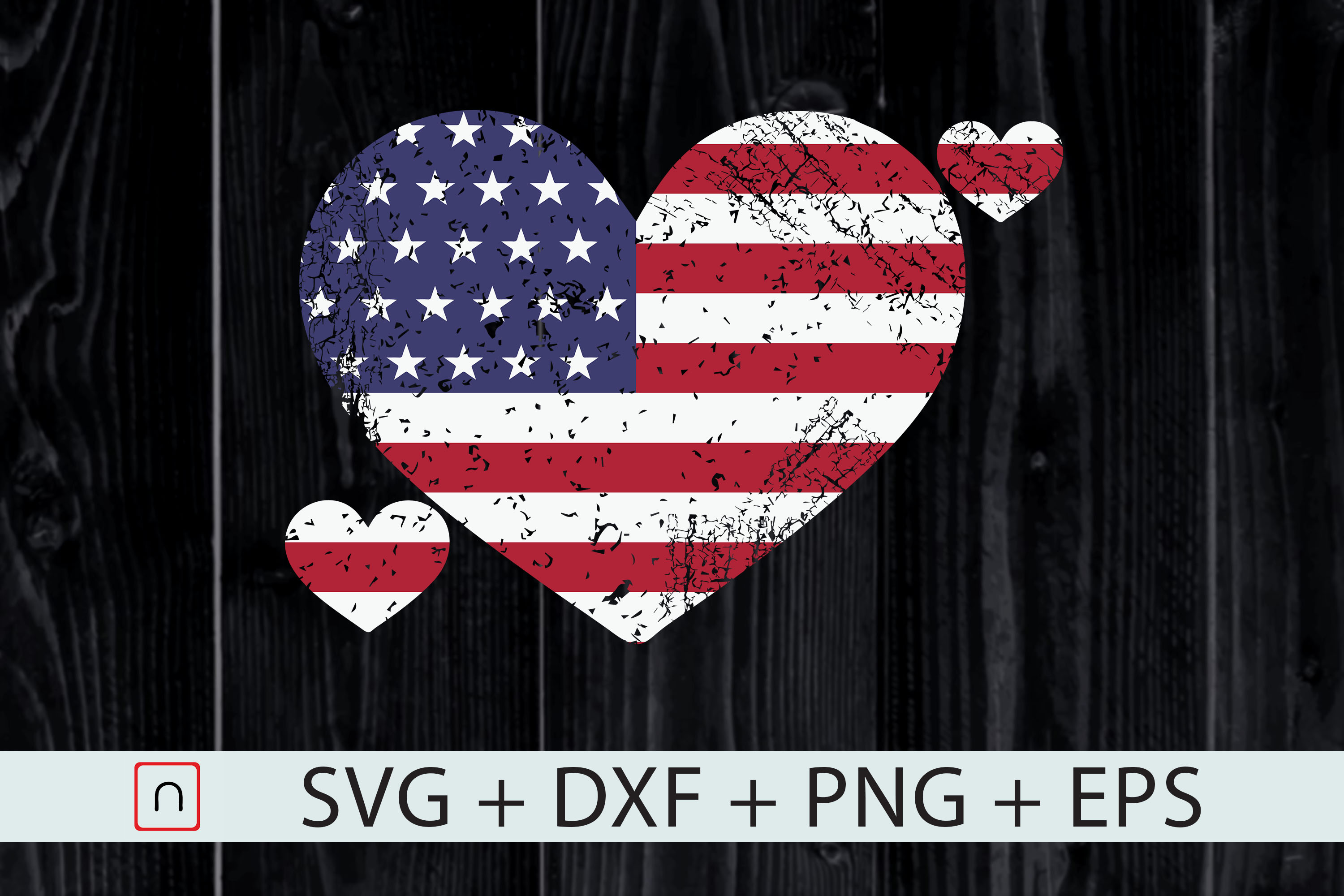 Download Free 4th Of July Heart Us Flag Patriotic Graphic By Novalia for Cricut Explore, Silhouette and other cutting machines.