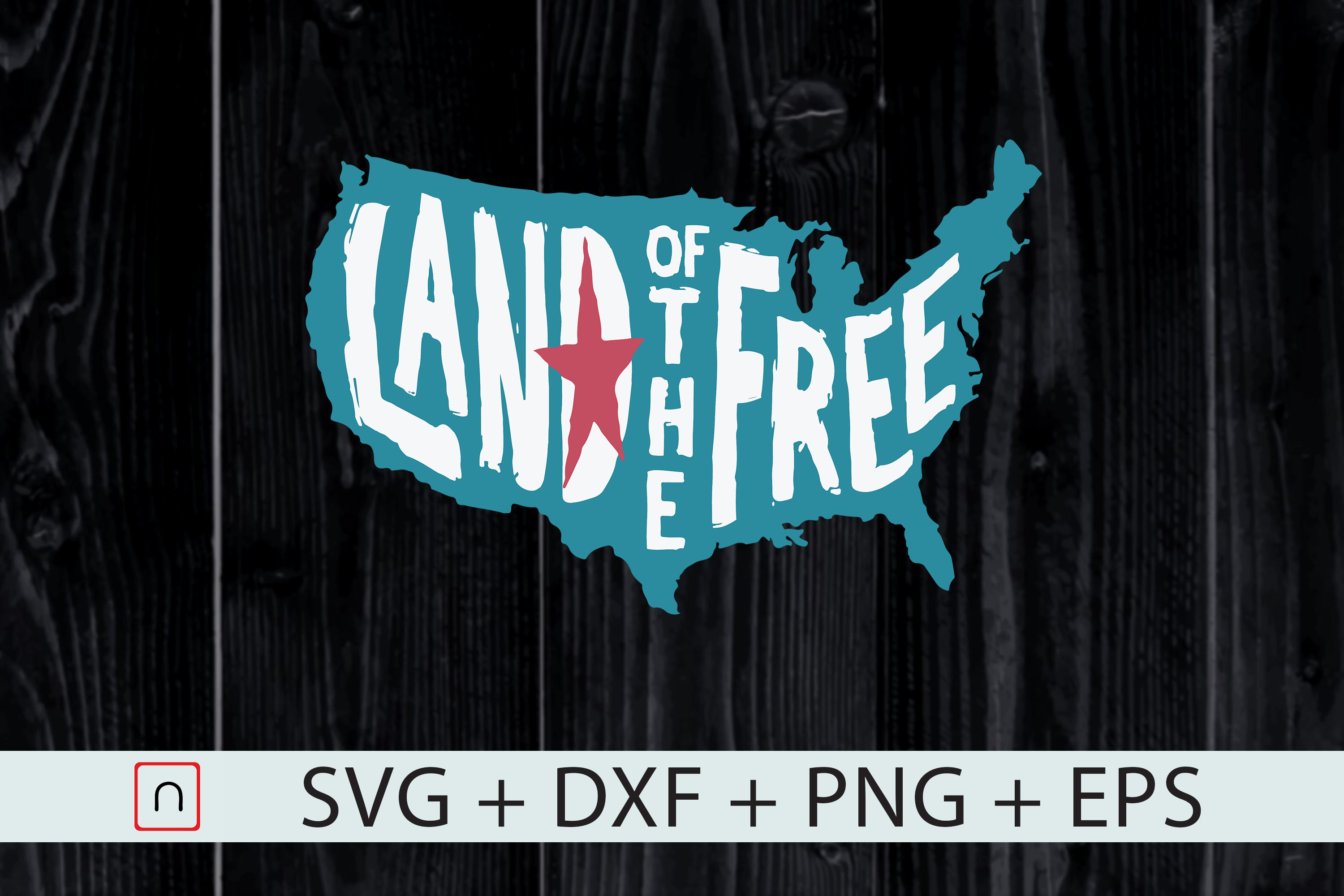 4th Of July Usa Map Land Of The Free Graphic By Novalia