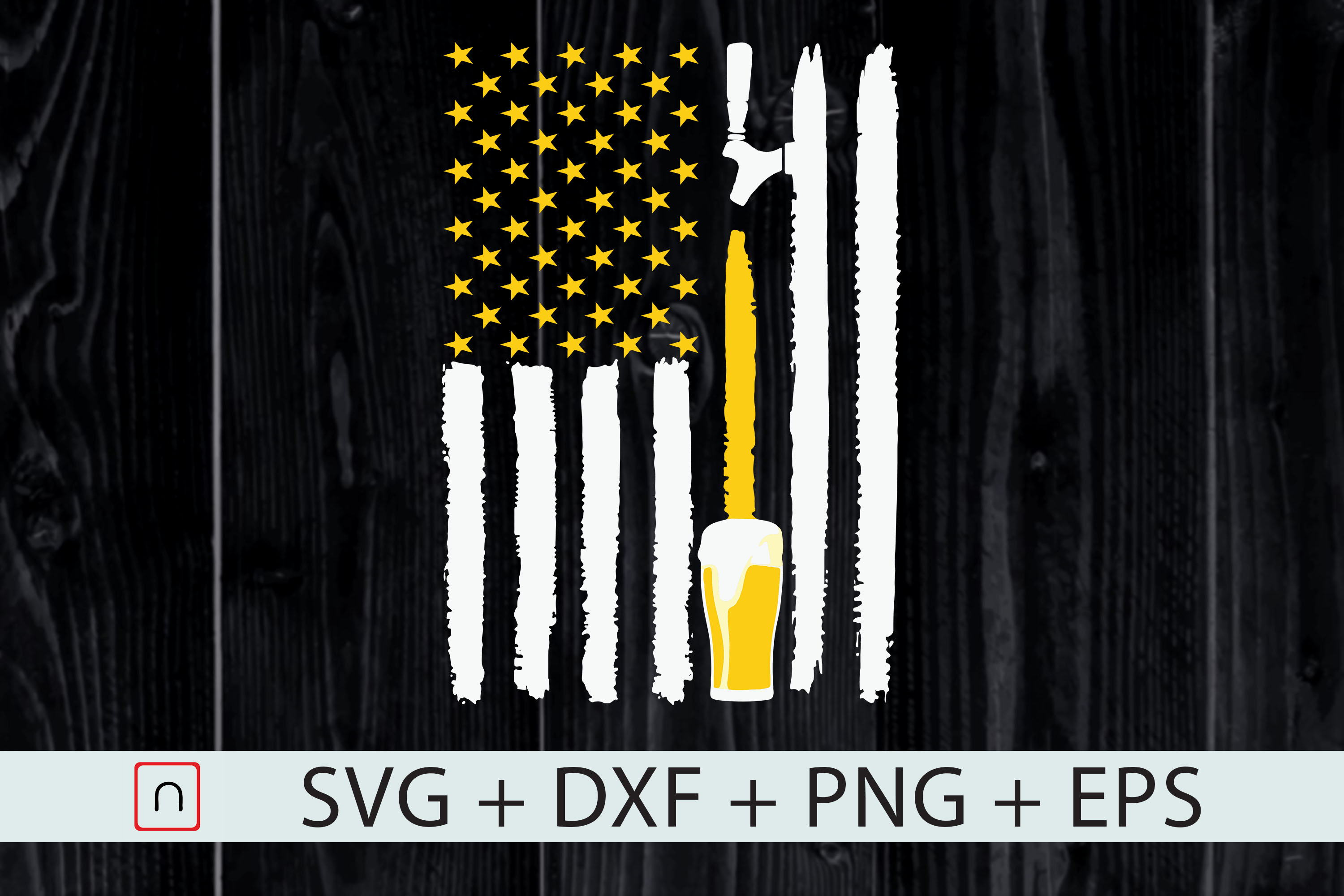American Flag Beer Lovers 4th Of July Graphic By Novalia