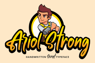 Print on Demand: Ariol Strong Script & Handwritten Font By brithostype