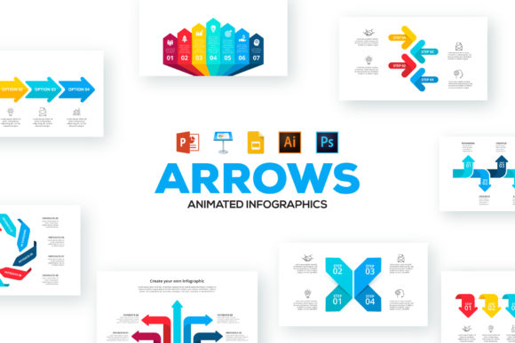 Arrows Animated Infographics Graphic Presentation Templates By Infostore