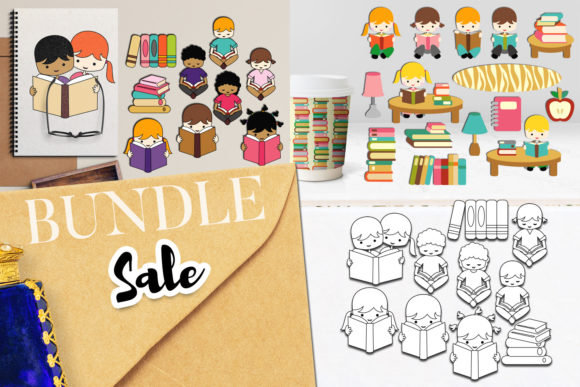 Print on Demand: Back to School Reading Bundle Graphic Illustrations By Revidevi
