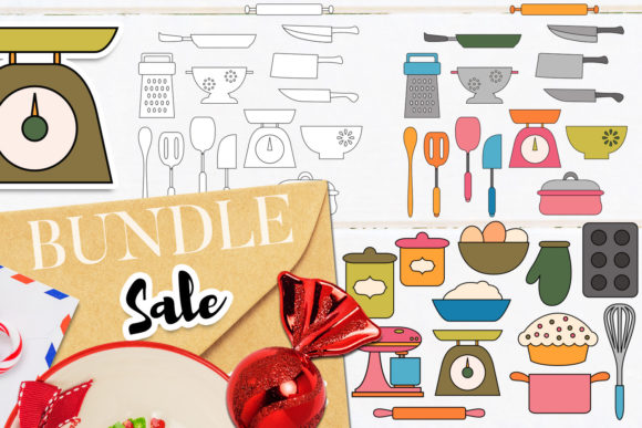 Download Free Baking And Cooking Bundle Graphic By Revidevi Creative Fabrica for Cricut Explore, Silhouette and other cutting machines.