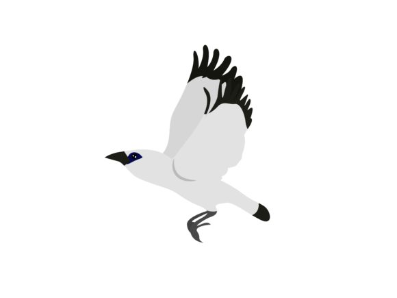 Download Free Bali Starlings Bird Staying Off Animal Graphic By Archshape for Cricut Explore, Silhouette and other cutting machines.
