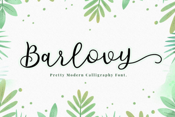 Download Free Barlovy Font By Sizimon Creative Fabrica for Cricut Explore, Silhouette and other cutting machines.