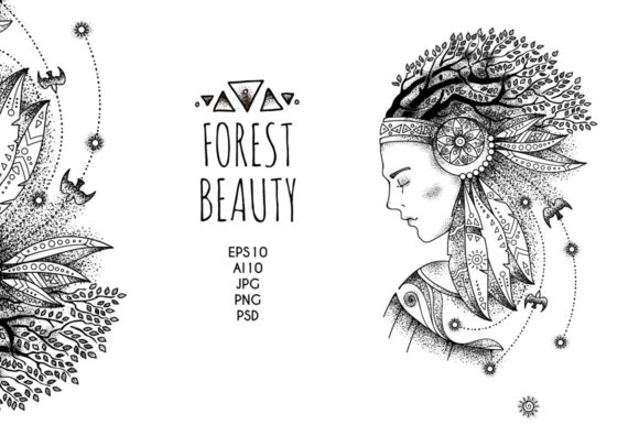 Print on Demand: Beauty Collection: Driad Graphic Illustrations By Drekhann