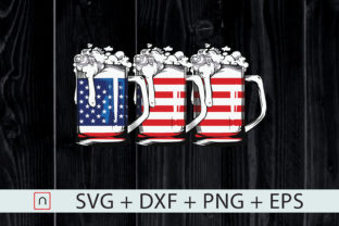 Download Free Beer American Flag 4th Of July Merica Graphic By Novalia for Cricut Explore, Silhouette and other cutting machines.