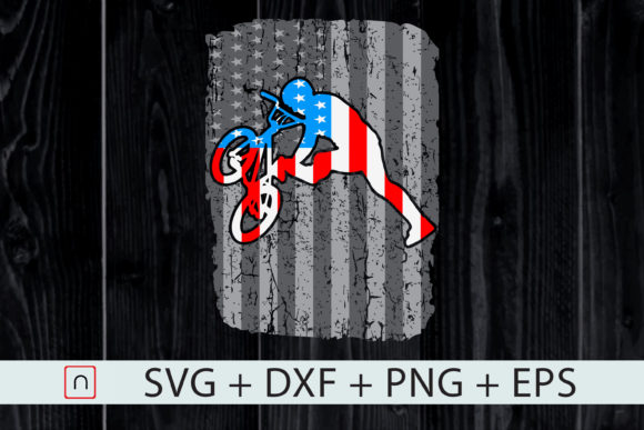 Download Free Bike American Flag 4th Of July Graphic By Novalia Creative Fabrica for Cricut Explore, Silhouette and other cutting machines.