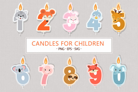 Birthday Candles Graphic Illustrations By madtigerhere