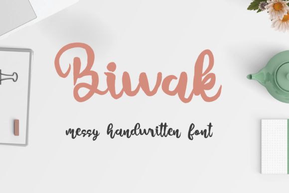 Print on Demand: Biwak Script & Handwritten Font By DIGI Potwor