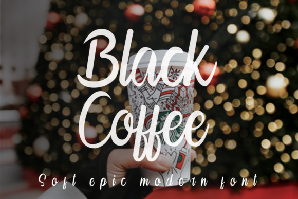 Print on Demand: Black Coffee Script & Handwritten Font By K_IN Studio