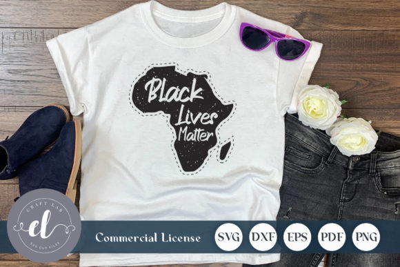 Black Lives Matter Africa Map Graphic Crafts By CraftlabSVG