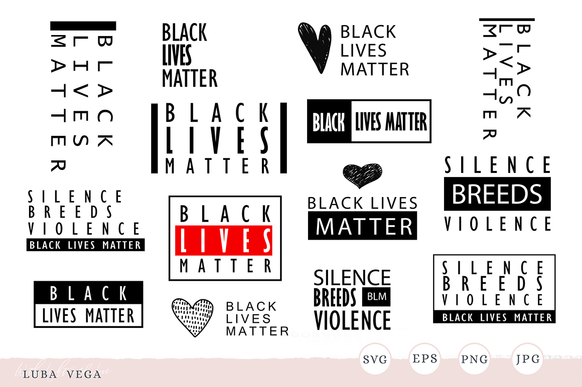 Download Free Black Lives Matter Silence Is Violence Graphic By Madtigerhere for Cricut Explore, Silhouette and other cutting machines.