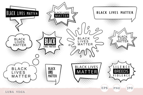 Black Lives Matter | Silence is Violence Graphic Illustrations By madtigerhere