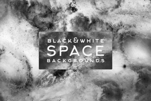 Download Free Black And White Space Backgrounds Graphic By Freezerondigital for Cricut Explore, Silhouette and other cutting machines.