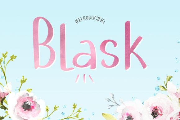 Print on Demand: Blask Script & Handwritten Font By DIGI Potwor