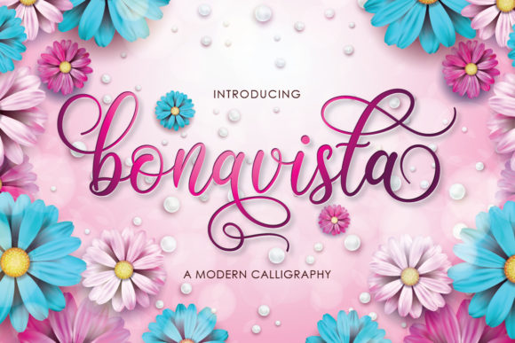 Print on Demand: Bonavista Script & Handwritten Font By Almeera Studio