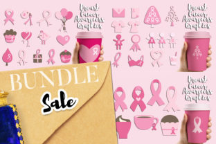 Print on Demand: Breast Cancer Ribbon Bundle Graphic Illustrations By Revidevi