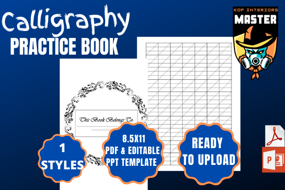 Print on Demand: Calligraphy Practice Book Graphic KDP Interiors By KDP_Interiors_Master