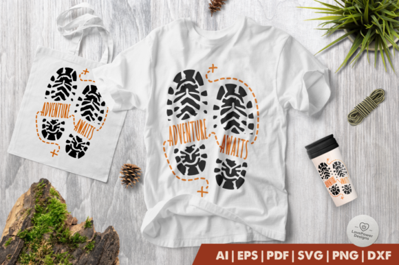 Download Free Camping Adventure Awaits Graphic By Lovepowerdesigns Creative Fabrica for Cricut Explore, Silhouette and other cutting machines.