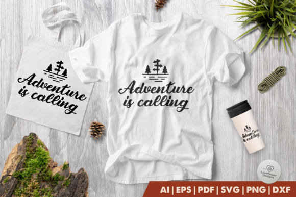 The Mountains Are Calling And I Must Go Camping Svg And Dxf Eps Cut File Png Vector Calligraphy Download File Cricut Silhouette