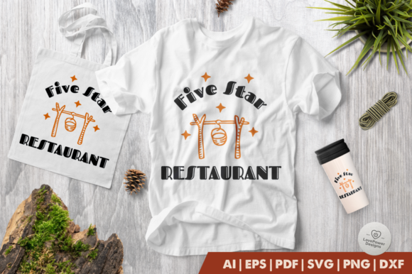 Download Free Camping Five Strar Restaurant Graphic By Lovepowerdesigns for Cricut Explore, Silhouette and other cutting machines.
