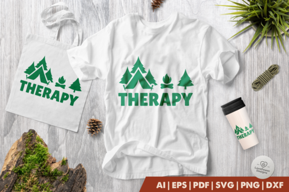 Print on Demand: Camping Therapy Gráfico Crafts Por LovePowerDesigns