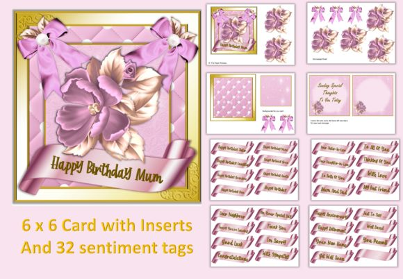 Download Free Card Making Kit With 32 Tags Graphic By The Paper Princess for Cricut Explore, Silhouette and other cutting machines.